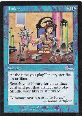 1 x Tinker uncommon sorcery from Urza's Legacy (magic the gathering)