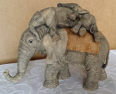 Fab Large Tuskers Figurine - Hitchin' A Ride