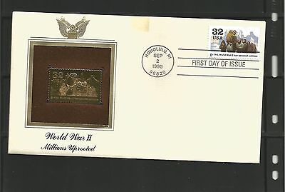USA Gold Stamp- WWII Millions Uprooted cover