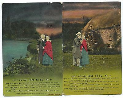 """BAMFORTH - """"JUST AS YOU USED TO BE"""" 1913 Song Cards from INDIA  4687. no's 2 & 3"""
