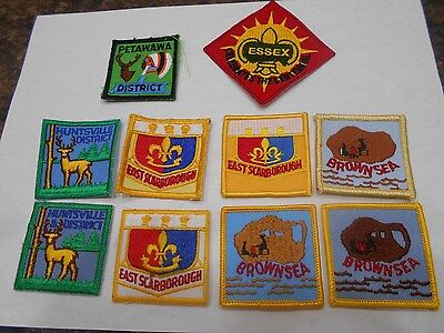 (Yp3-R) Ten Different Unused Listed Ontario Scout Badges