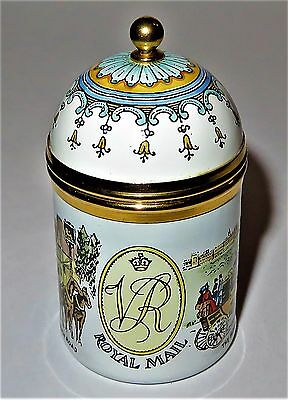 Crummles Enamel Stamp Box - Royal Mail Victorian Scenes - Windsor Castle