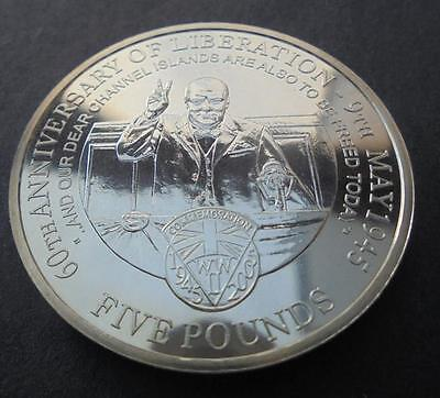 Alderney 2005 Channel Islands Liberation £5 Crown Coin Uncirculated With COA