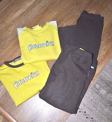 Girls Brownies Girlguiding Uniform trousers leggings t shirt  longsleeve top 6 7