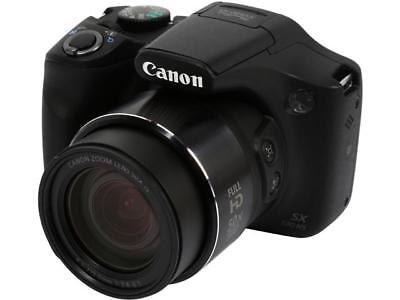 Canon PowerShot SX530 HS Black 16 MP 50X Optical Zoom 24mm Wide Angle High-End,