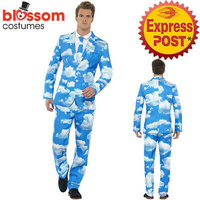 CA309 Sky High Clouds Mens Stand Out Suit Stag Party Funny Fancy Formal Costume