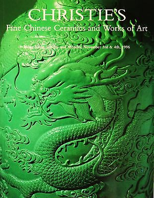 CHRISTIE'S - Fine Chinese Ceramics and Works of Arts, Hong Kong Nov 1996