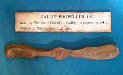 Unique 1911 Experimental Miniature Aircraft Propeller, Prof. Davis L. Gallup