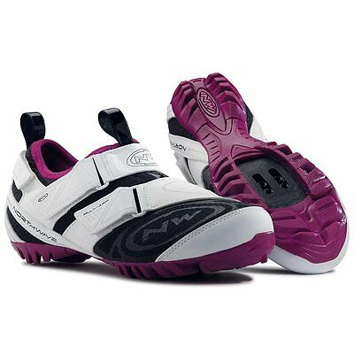 Northwave, Multi-App Woman, Touring shoes, Women's, White/Violet, 41