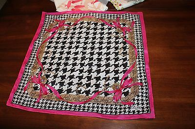 CELINE Handkerchief Hanky Scarf Houndstooth Auth Collectible RARE