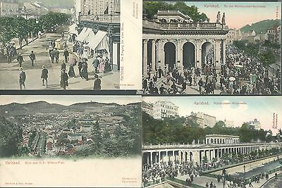 Lot of 8 Karlsbad Germany pre Great War WWI Postcards Early 1900s