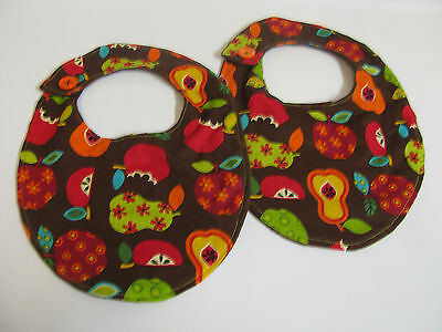 Set Of 2 Boutique Style Baby Bibs New