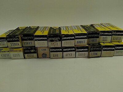 Lot of 20 Vintage Sylvania Vacuum Tubes - New In Box - NIB
