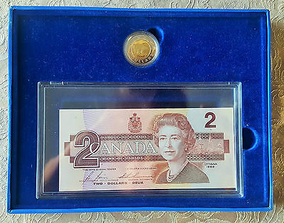 Canada 1996 $2 Proof Coin & Bank Note Set