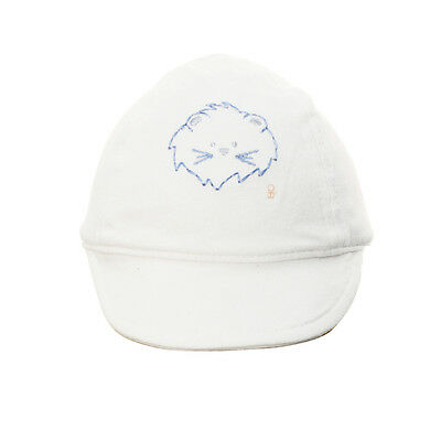 Light Infant Baby 6-9 Months Boys 100% Cotton Cabbie Baseball Ball Hat Cap White
