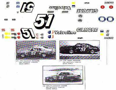 Fred Cady Decal #149 #51 76/77 Valvoline Gilmore Chevy