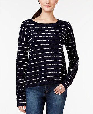 TOMMY HILFIGER $80 NEW 16793 Long-Sleeve Crew-Neck Knit Womens Sweater XS