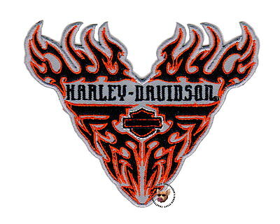 Harley Davidson Tribal Flames Bar And Shield Patch  * Retired Design *