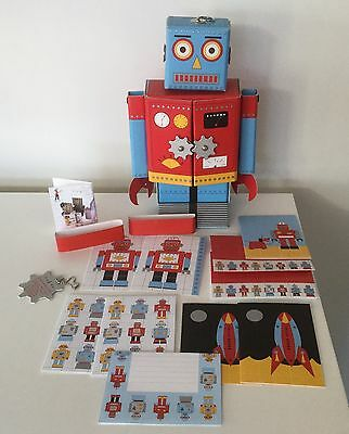 Meri Meri Robot Stationery Set Space Party Room Decor Bought From SEED