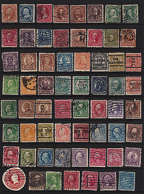 USA Interesting Selection of Stamps from Old Album GCV