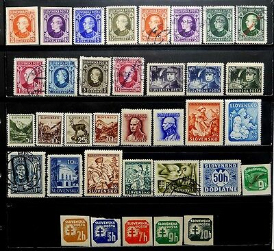 Slovakia, German Occupation, Czechoslovakia: 1940's Stamp Collection