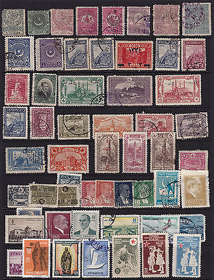 Turkey Stamps Interesting Selection from Old Album GCV