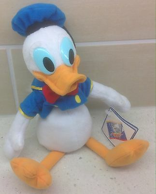 Disney's Donald Duck Beanie Plush Soft Toy - 1997 - Mickey's World