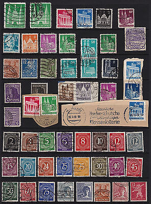 German Stamps Allied Occupation Period Good Selection from Old Album GCV