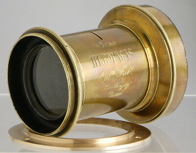 Hermagis Aplanétique Paris _antique French brass lens f/wood Plate Field cameras