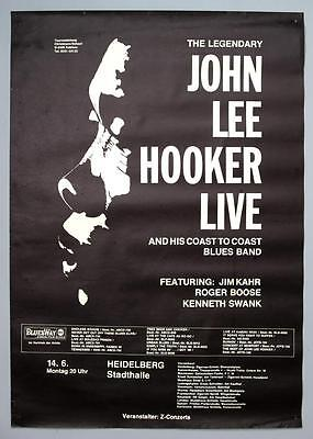 JOHN LEE HOOKER - mega rare original Germany 1971 blues concert poster