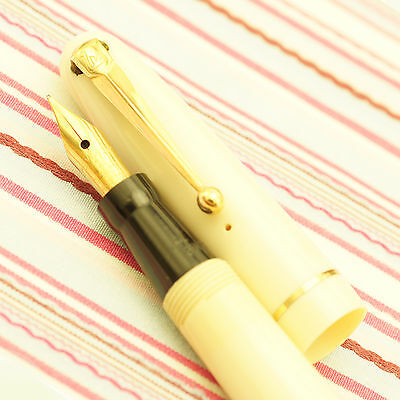 Vintage Mabie Todd Swan Self-Filler 3174 Cream Ivory Fountain Pen Rare