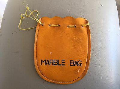Vintage MARBLE BAG - For Glass Toy Marbles