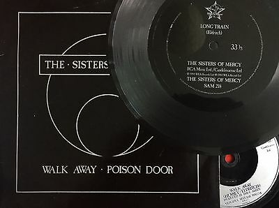 "SISTERS OF MERCY -Walk Away 7"" +Long Train Flexi +Picture Sleeve (Vinyl Record)"
