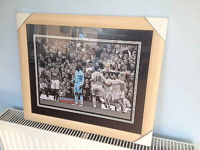Manchester Man City 6-1 At Old Trafford Balotelli Why Always Me Framed Picture
