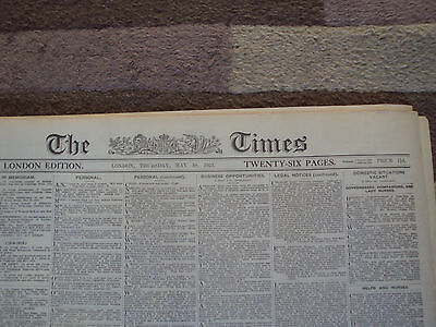 the times newspaper 10th may 1923 no reserve