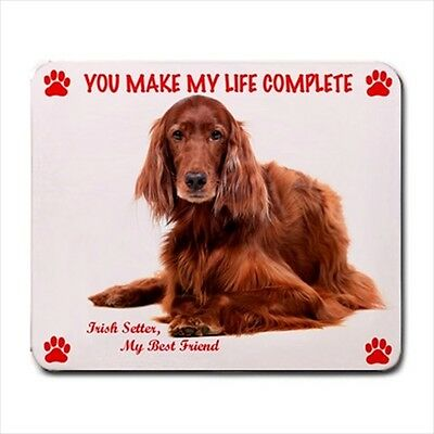 New Design Cute Adorable IRISH RED SETTER Dog Puppy Rubber Computer MOUSE PAD