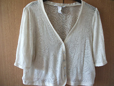 cream cover up cardigan by H & M size L (fits size 12-14)