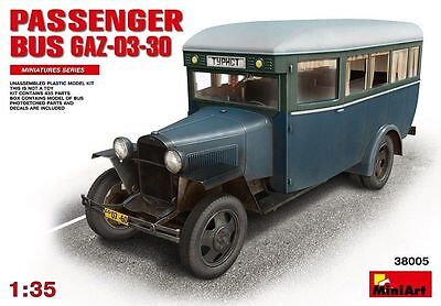MiniArt PASSENGER BUS GAZ-03-30 Kit 1:3 5 Set Item 38005 Transporter