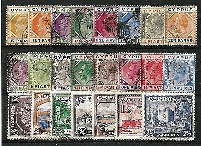 Cyprus - a selection of 23 older values