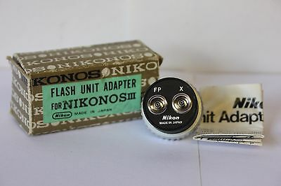 Nikon Nikonos III   Original Camera Flash Unit Adapter Boxed