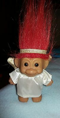 Vintage Christmas Angel Russ Troll Doll  Red Hair - Immaculate Condition