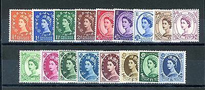 Great Britain 1952 Tudor Crown Set of 17  SG 515-531  unmounted MINT   (J1535)