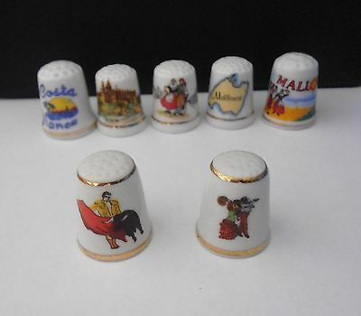 7  Spanish  ( Not  Bone  China ) Thimbles