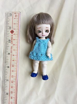 Fairy Garden DD-Anne handmade LII 10cm tiny resin bjd normal skin with outfit