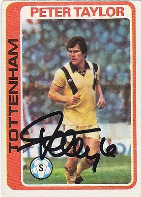 • Hand Signed Topps Trade Card 1979/80 Tottenham - Peter Taylor
