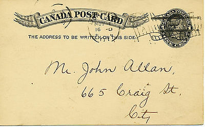 2200 CANADA 1901 QV One Cent postcard -privately printed for Protestant Hospital