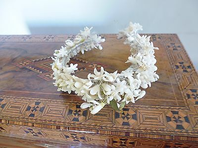 Vintage waxed flower bridal head piece -