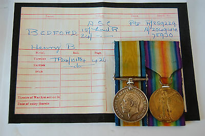 ww1 medals A.S.C / 15 & 24 London Regt