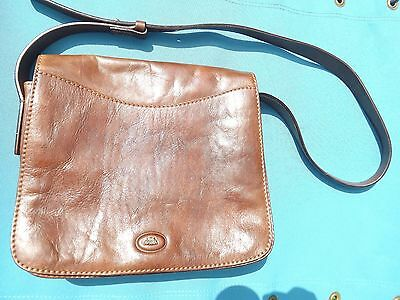 Vintage Italian Brown Leather Ladies Bag by The Bridge