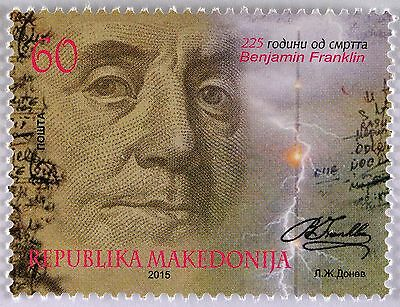 Makedonien Macedonia 2015, Michel Nr. 726, 225. Geb. Benjamin Franklin